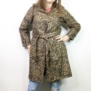 Capelli of New York cheetah print coat size medium